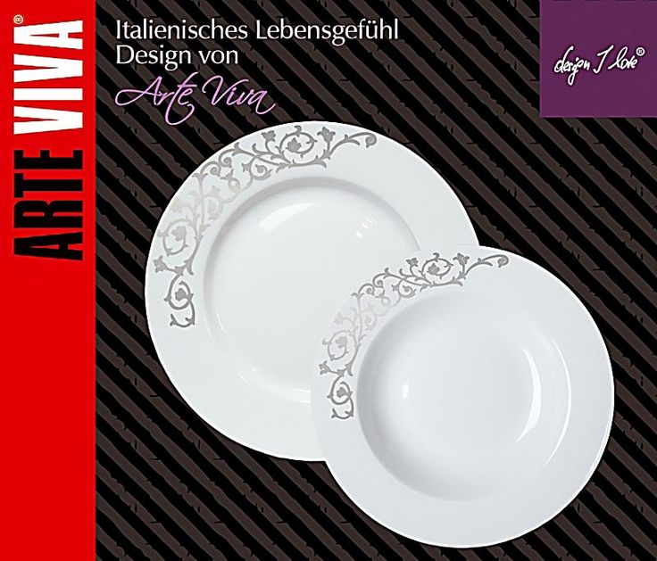 contessa tisch | Tafelservice Contessa Platin, 12-teilig | weltbild.de