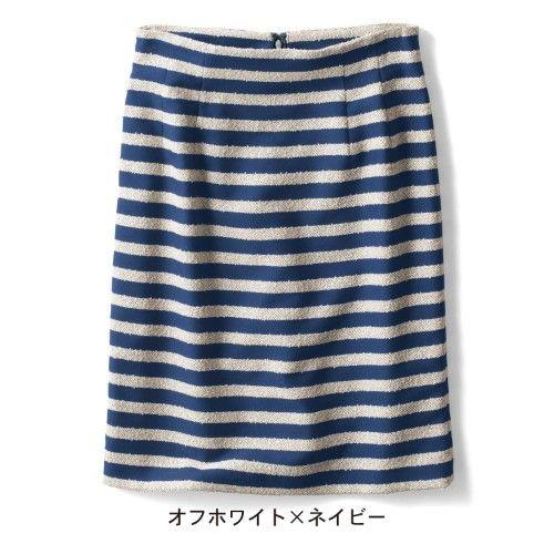 ジャカードボーダータイトスカート【ネット限定サイズあり】