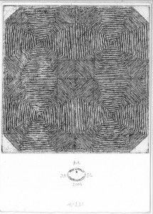 Sin título No. 231. 2006. Aguafuerte. P/A. 17 x 12 cm