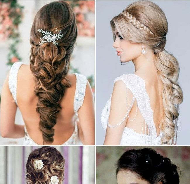 Mind Blowing Bridal Hairstyles For Long Hair Ohh My My Valentine S Day Prom Wedding Hairstyle For L In 2020 Hair Styles Long Hair Styles Wedding Guest Hairstyles Long