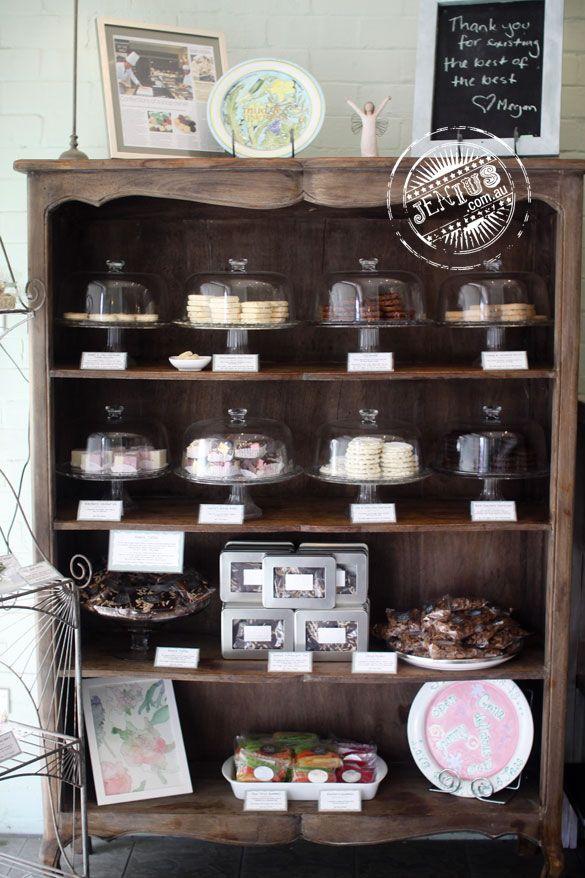 Sweetness The Patisserie, Epping, Sydney - bookshelf of baked goods