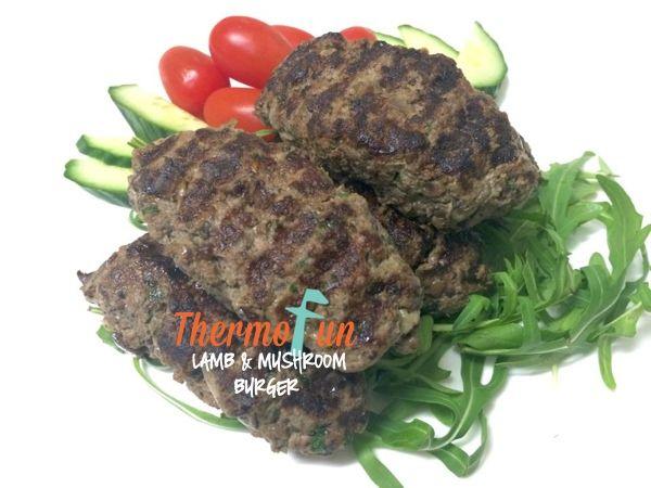 ThermoFun – MAD MONDAY – Lamb and Mushroom Burger Recipe
