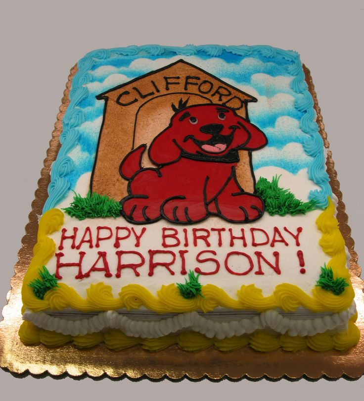 Clifford The Big Red Dog Cake Decorations