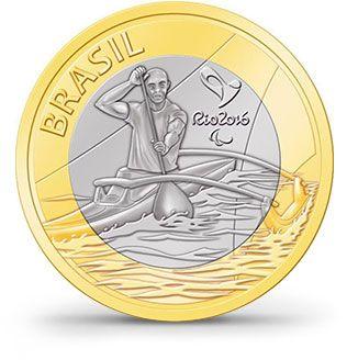 Moedas - Rio 2016 - Paracanoagem