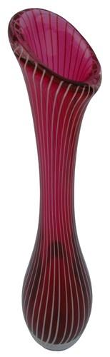 Mid Century Swedish Modern Crystal Glass Vase By Vicke Lindstrand For Kosta