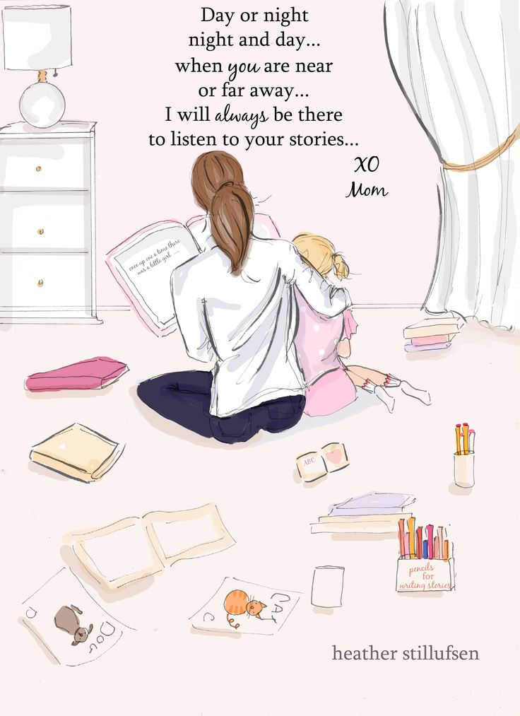 Notes From Mom – Listen to You Stories – Mom and Daughter Art – Mother's Day Gifts – Art for Moms – Inspirational Art for Women