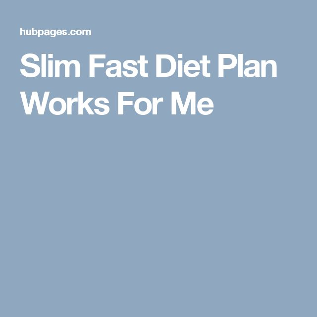 Slim Fast Diet Plan Works For Me