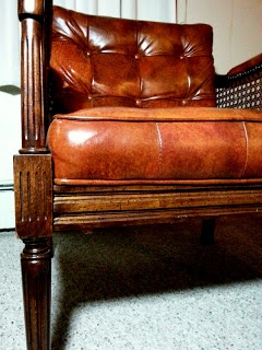 Brown mid century chair
