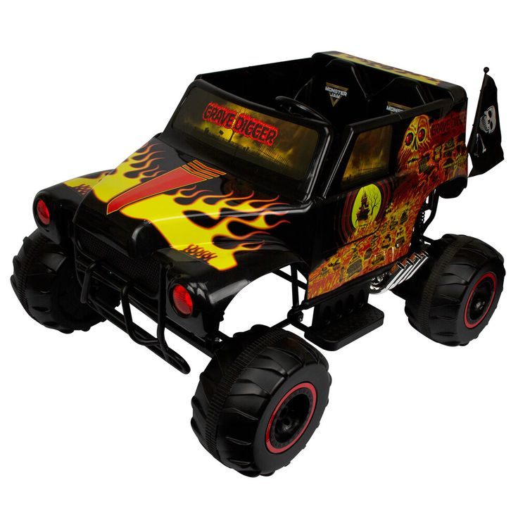 Details about Kids Ride On Off Road Monster Truck Grave ...