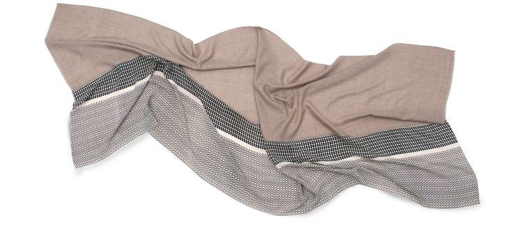 Florenz · Nadia  Pashmina handwoven cashmere scarf + printed silk