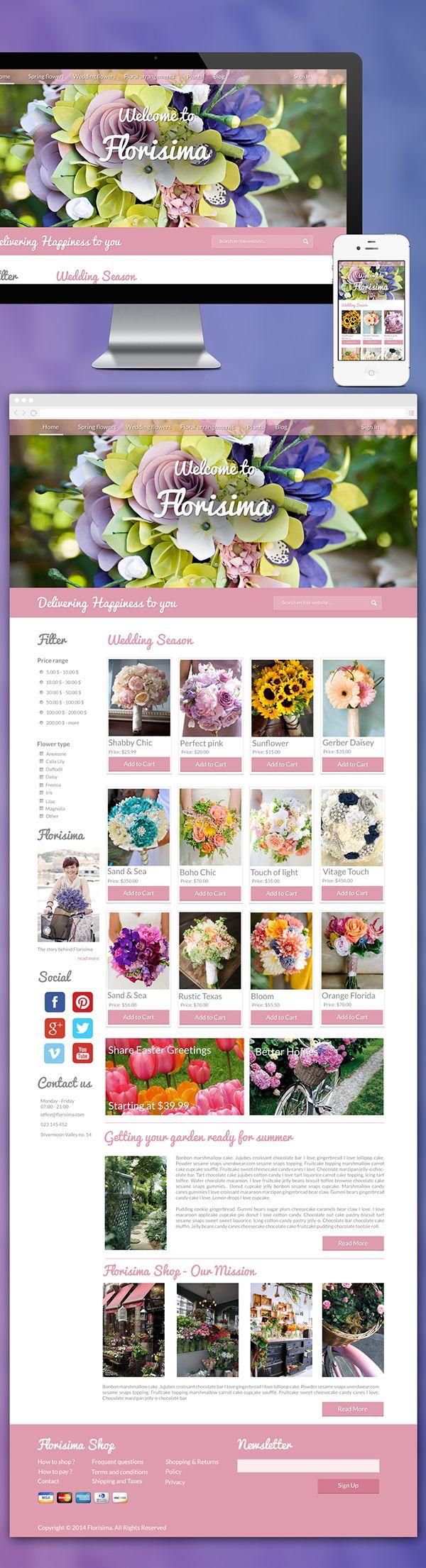 E-commerce : Floral Theme on Behance