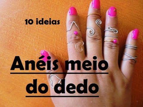 Anéis de meio do dedo - 10 maneiras (Tutorial) - YouTube   We Heart It
