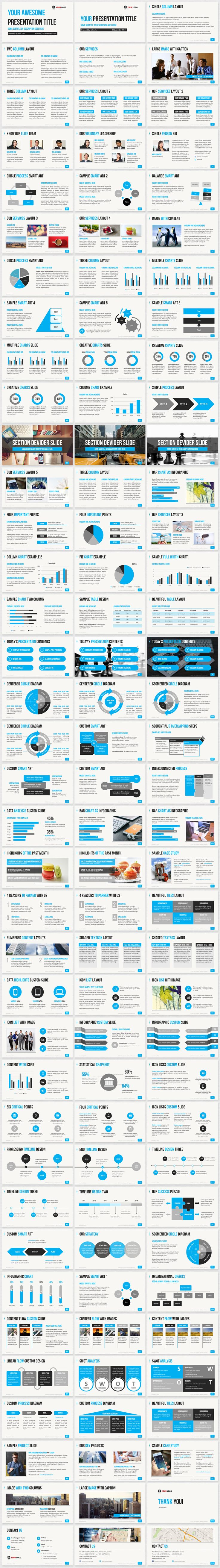 Professional business PowerPoint templates with high-quality template slide layouts. Download 6 color themes to create a clean PowerPoint presentation fast.