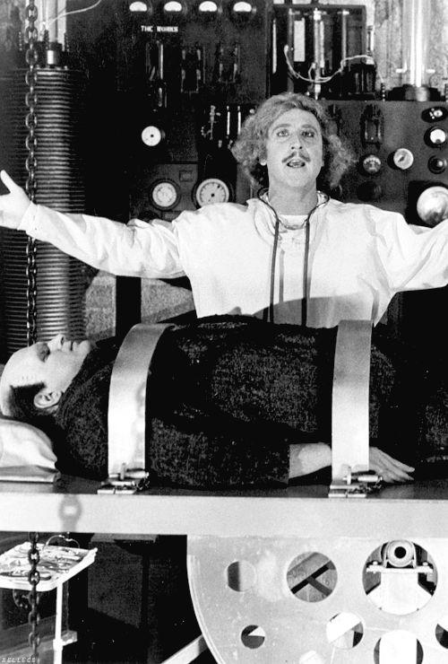 Gene Wilder & Peter Boyle in Young Frankenstein