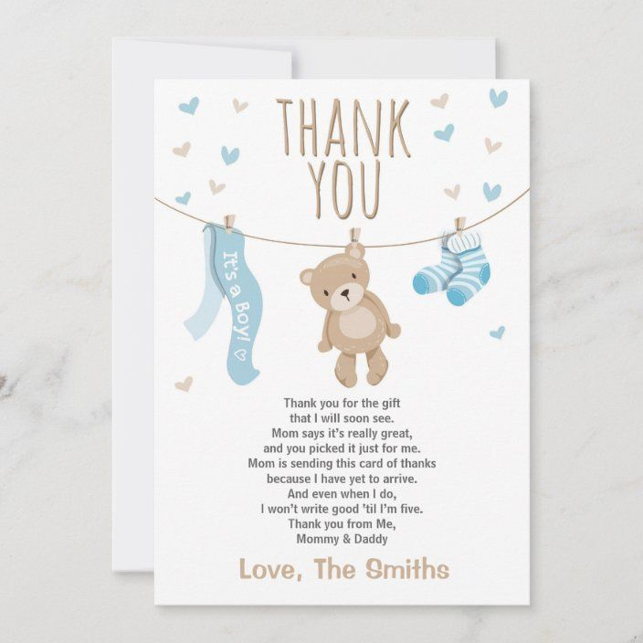 Baby Shower Thank You It S A Girl Postcard Zazzle Com Baby Shower Thank You Baby Shower Shower Gifts Diy
