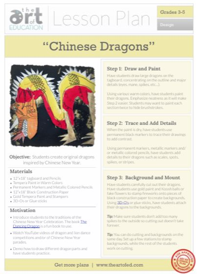 Chinese Dragons: Free Lesson Plan Download