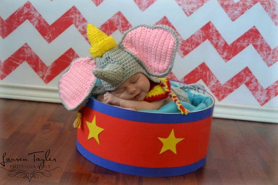 Dumbo Crochet set by NanniesCreations1 on Etsy, $35.00