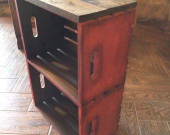 Tabla de extremo de caja de madera perro mastique muebles para