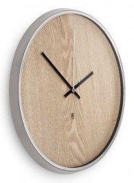 Zegar Ścienny Madera biało-drewniany umbra 118413-392