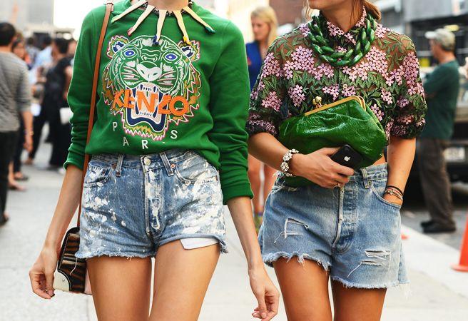 #jeans shorts streetstyle fashionweek