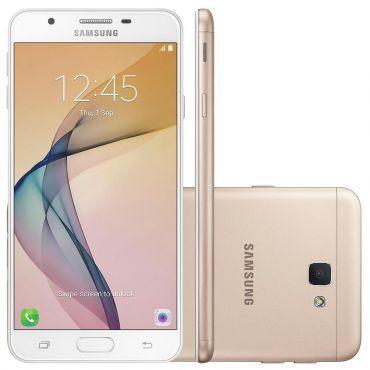 "Smartphone Samsung Galaxy J7 Prime G610M Dourado - Dual Chip,4G, Tela Full HD 5.5"", Câmera 13MP+Frontal 8MP com flash, Octa Core 1.6Ghz, 32GB,3GB RAM"