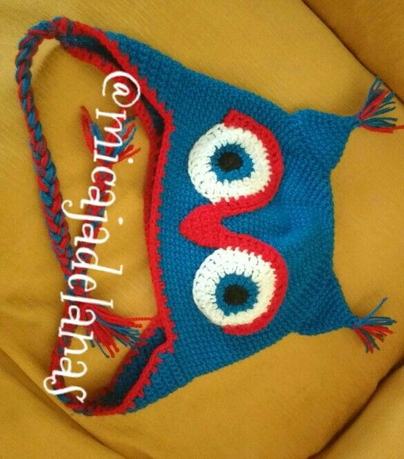 Gorro a crochet búho