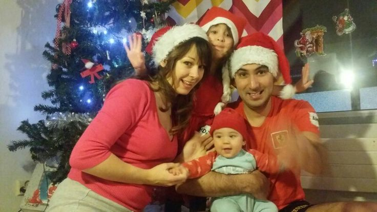 """Those times when you try to get a family christmas photo with the camera set on 5seconds timer. """" look, quick, there , smile, snap. """""""