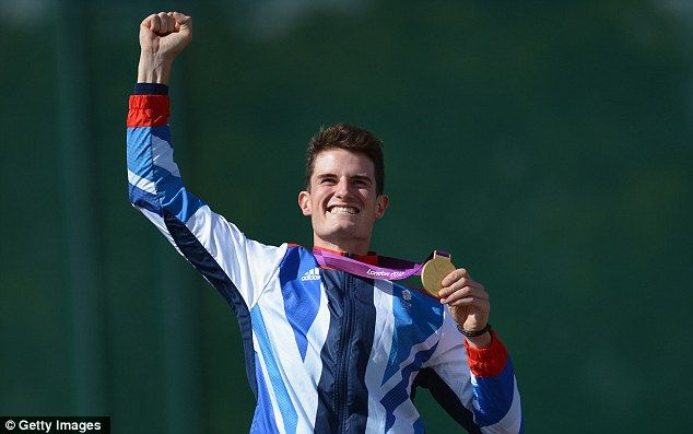 Hotshot: Peter Wilson, 25, won Team GB's fourth gold medal of the London Olympics - he hit 188 out of his 200 shots in his debut games in double trap shooting
