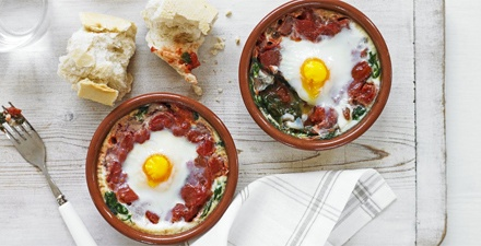 Rustle up your own cereal or museli to control sodium levels, or omit salt from savoury dishes. Try to use eggs and vegetables and avoid processed meats like bacon and sausages.