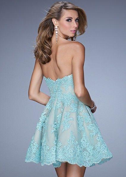 La Femme 21446 Flirty Lace Dress