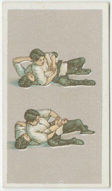 Серия спичечных коробков с изображениями приемов джиу джитсу издавалась с 1905 по 1917 годы