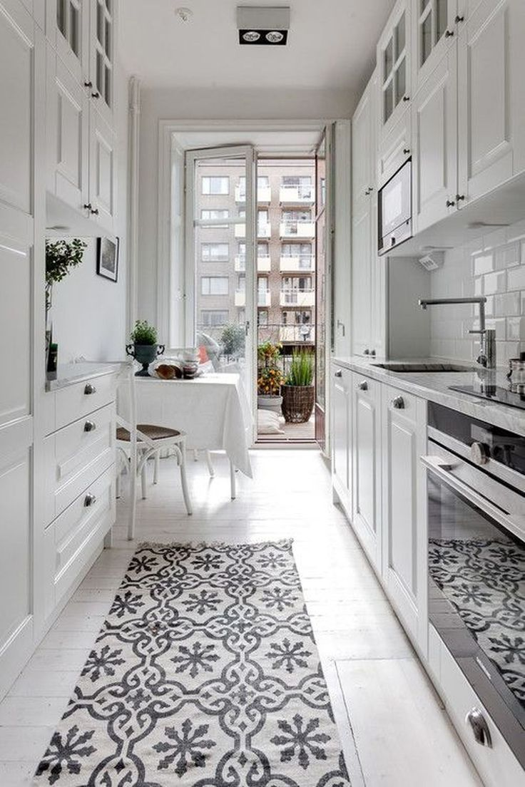 9 Space Enhancing Ideas For Your Galley Kitchen Remodel Galley Kitchen Layout Kitchen Design Small Kitchen Remodel Small