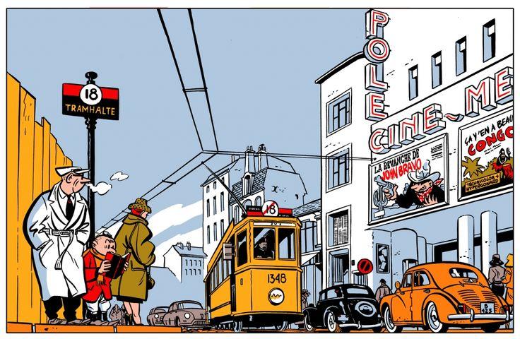 Jeune Albert : Tramway et Série Noire par Yves Chaland.