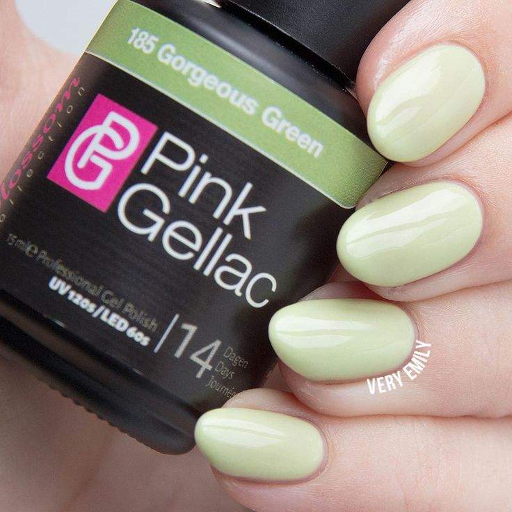 Pink Gellac Gorgeous Green
