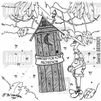 Contemporary Art Websites outhouse cartoon Bathroom HumorCartoons
