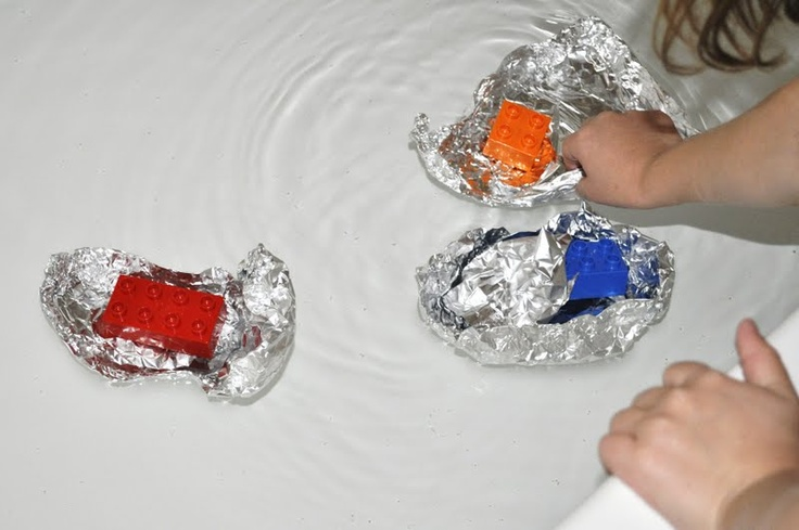 Make baby Moses a basket out of foil. This should work better than the playdough boats that we tried.