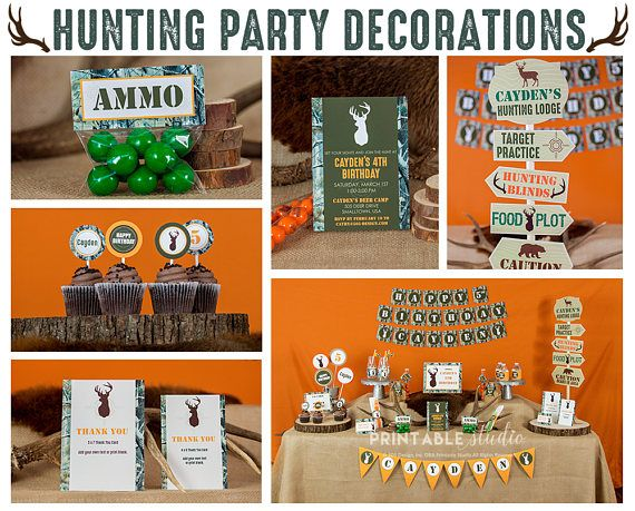 Hunting Party Decorations Instant Download  Hunting Birthday