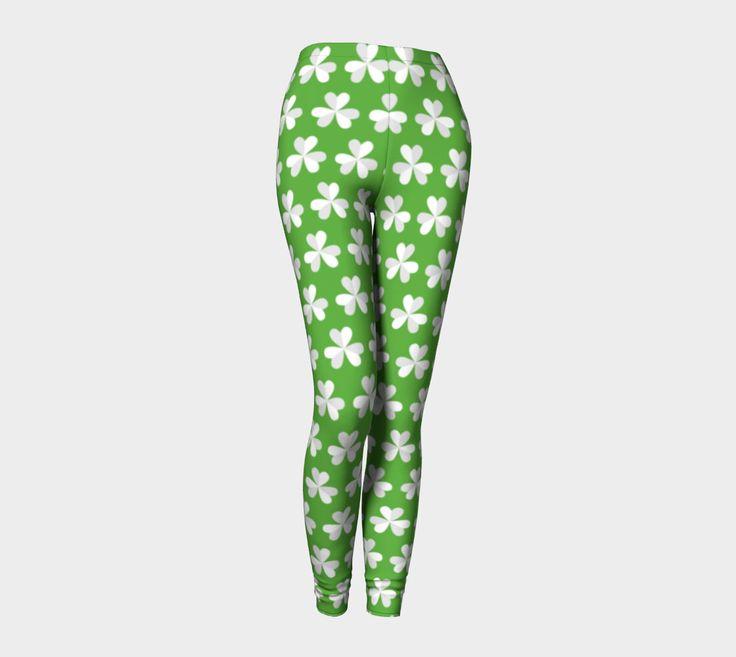 10 dollars off!, St. Patrick's day leggings, 4 leaf clover leggings, lucky leggings, green leggings, Irish leggings, shamrock leggings by ImagineAvalon on Etsy https://www.etsy.com/listing/494034254/10-dollars-off-st-patricks-day-leggings