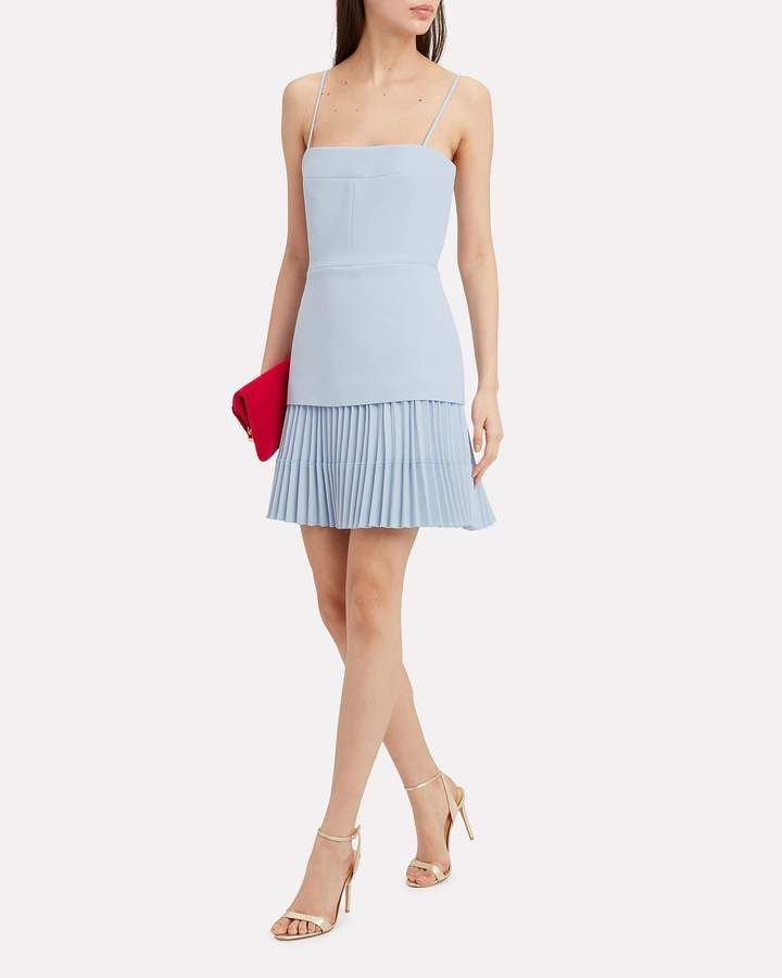 737b0bff07 Dion Lee Ellipse Pleated Mini Dress #Ellipse#Lee#Dion Light Blue Dress Short