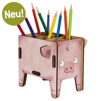 Werkhaus Shop - Stiftebox Vierbeiner - Schwein