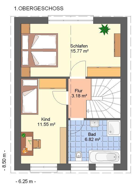 Kowalski Haus Liz 79 Grundriss Obergeschoss