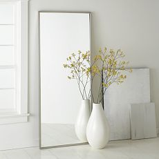 Floating Wood Floor Mirror | west elm