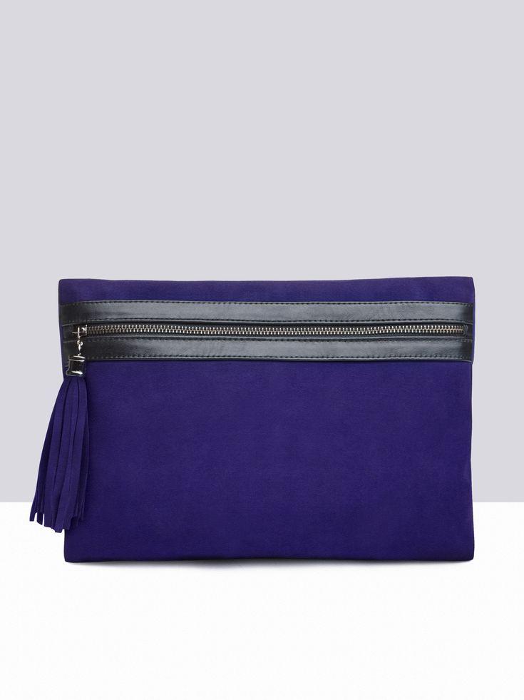 Miracle Purple Suede handbags small 1