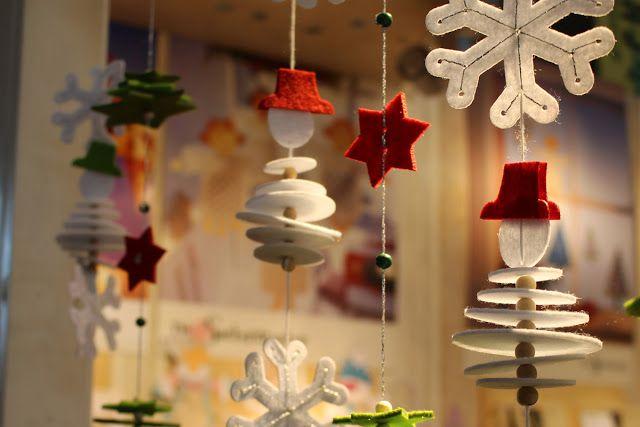 4 Freizeiten: Mein Besuch auf der Kreativ-Messe in Stuttgart ... Schneemännder aufgefädelt