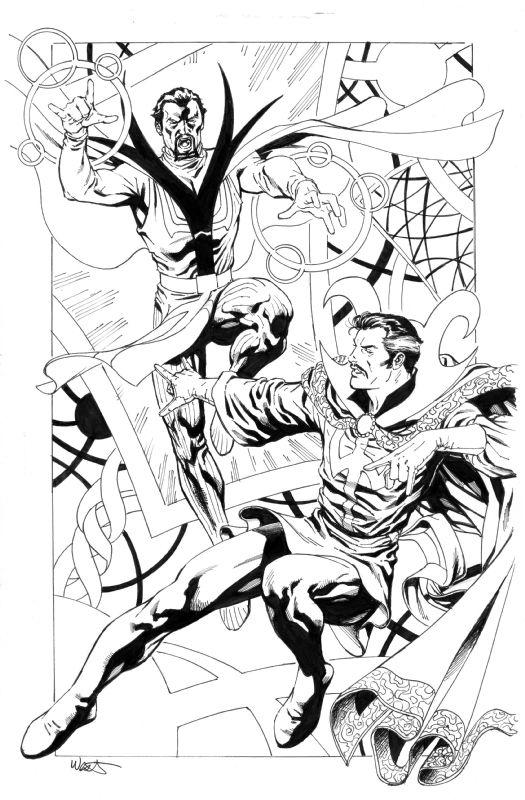 Dr. Strange vs Baron Mordo by Kevin West