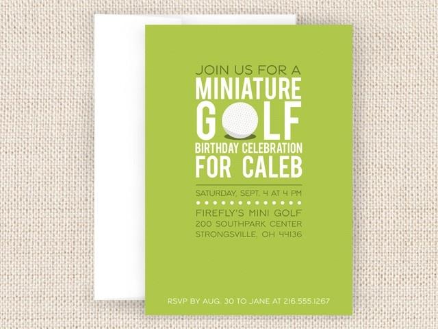 Mini Golf Party Invitation. $15.50, via Etsy.