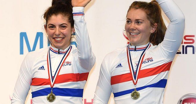 British Track Cycling Championships: Jess Varnish takes another title in team sprint