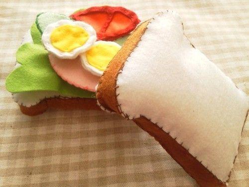 フェルトでままごと野菜サンドの作り方|フェルト|編み物・手芸・ソーイング|ハンドメイド | アトリエ