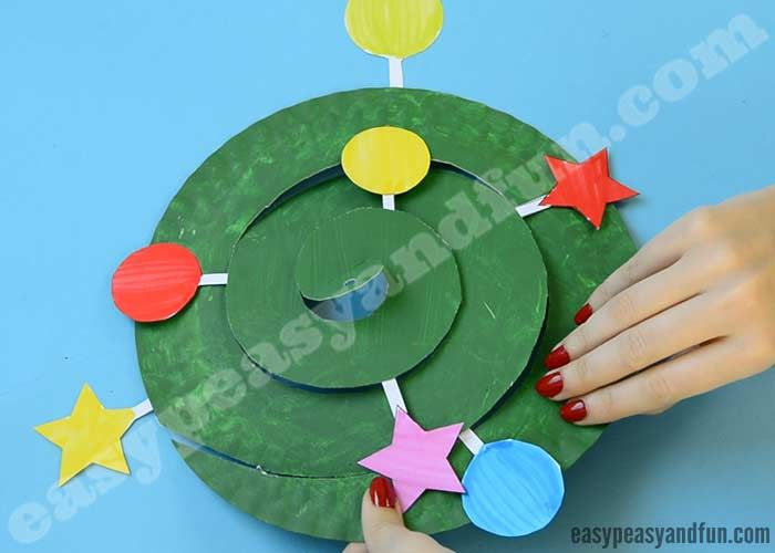 Swirling Paper Plate Christmas Tree Easy Peasy And Fun Christmas Tree Crafts Simple Christmas Tree Christmas Crafts For Kids
