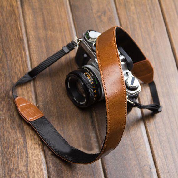 Canon Camera Strap - Brown Leather DSLR Camera Strap - Nikon Camera Strap Cover on Etsy, $19.99